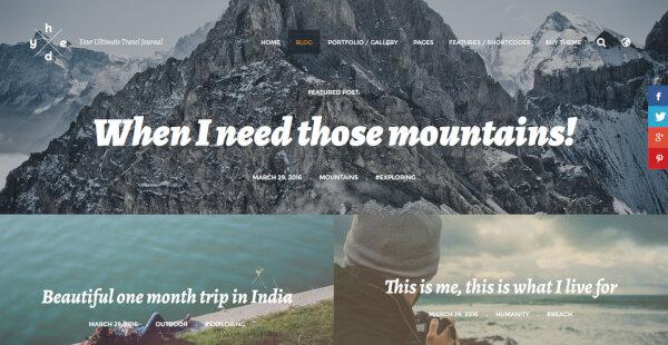 13 thirds layout hedy wp wordpress blogging theme