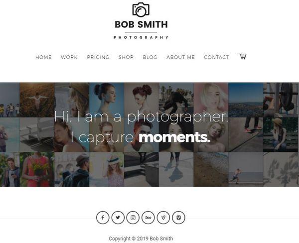 Photographer – Live Photowall Homepage WordPress Theme