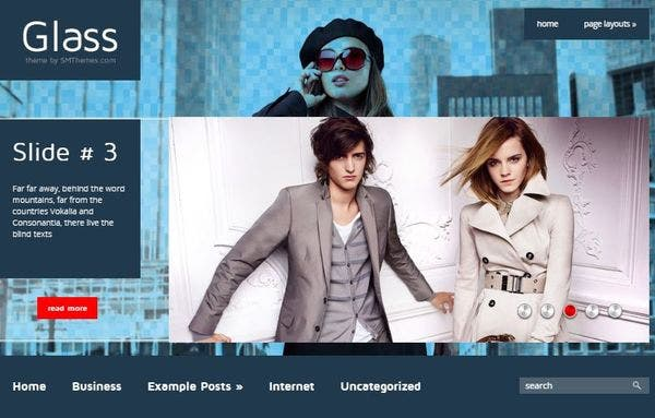 Glass - Multilingual WordPress Theme