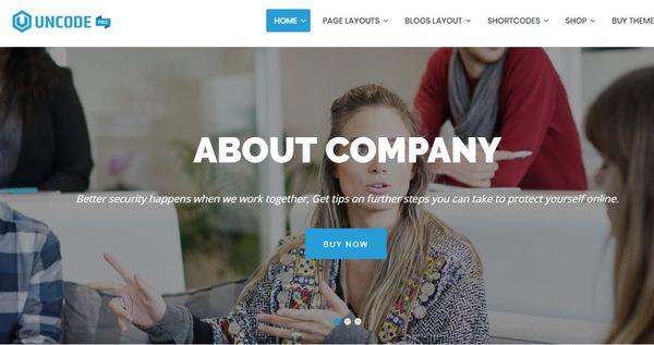 Uncode Pro – Live Customizer WordPress Theme