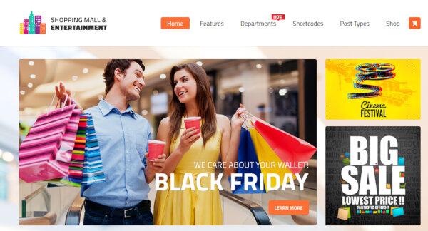 Shopping Mall – Store Directory WordPress Theme