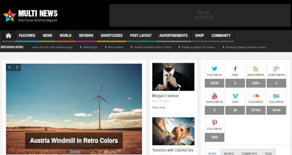 Multi News – Visual Composer WordPress Theme