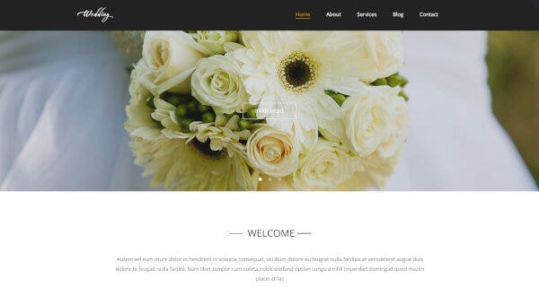 Wedding – HTML & CSS Framework Supported WordPress Theme