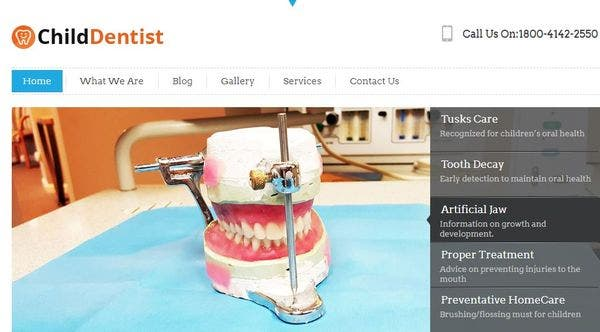 ChildDentist – Logo Ready WordPress Theme