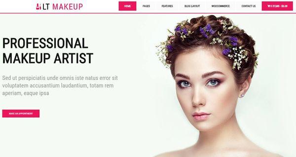 LT Makeup – Social Icon Ready WordPress Theme