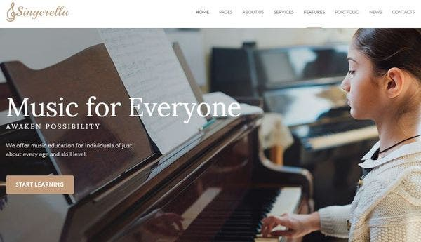 Singerella – Cherry Framework 4 WordPress Theme