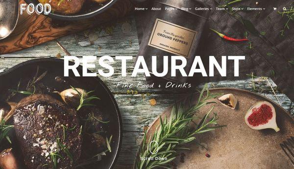 Food – Google Map Integrated WordPress Theme