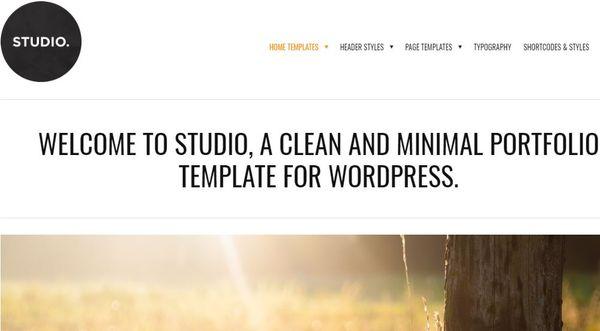 Studio – FAQ Section WordPress Theme