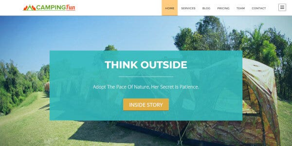 15 holiday camping wordpress theme – just another inkthemes network demo sites site