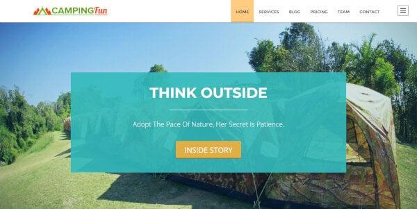 Camping Fun – One-Minutes Booking WordPress Theme