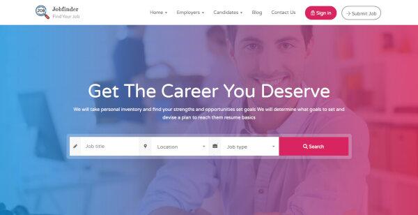 Jobfinder – Employer Management Dashboard WordPress Theme