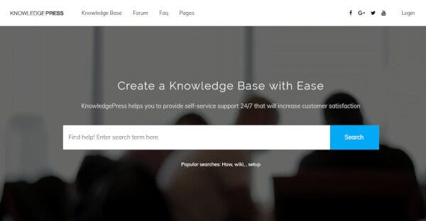 KnowledgePress – FAQ Plugin Supported WordPress Theme
