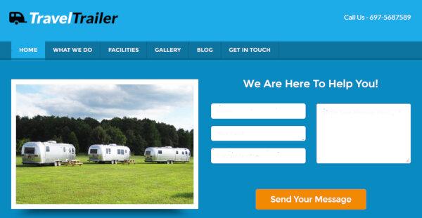 TravelTrailer – Lead Capture Feature WordPress Theme