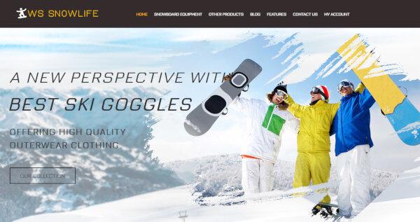 WS Snowlife – Bootstrap WordPress Theme