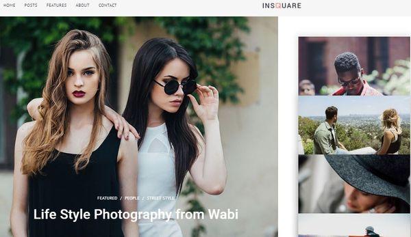 Insquare – Blog WordPress Theme