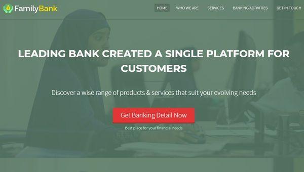 FamilyBank – Banking Services Optimized WordPress Theme