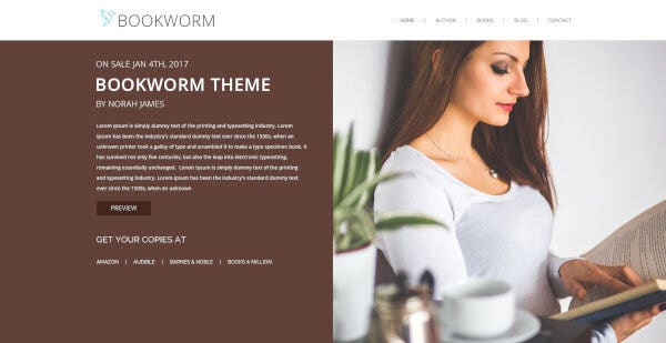 NF Book Worm – Redux Framework WordPress Theme