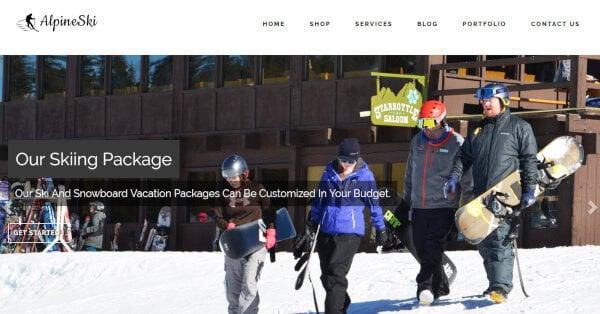 16 ski service wordpress theme – just another inkthemes network demo sites site