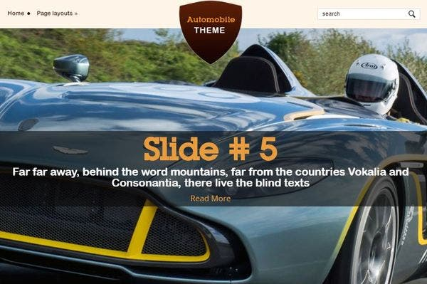 Automobile - Dynamic Content Loader Included WordPress Theme