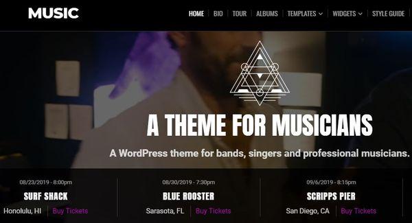 Music – Responsive WordPress Theme
