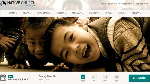 Native Church – RTL Compatible WordPress Theme