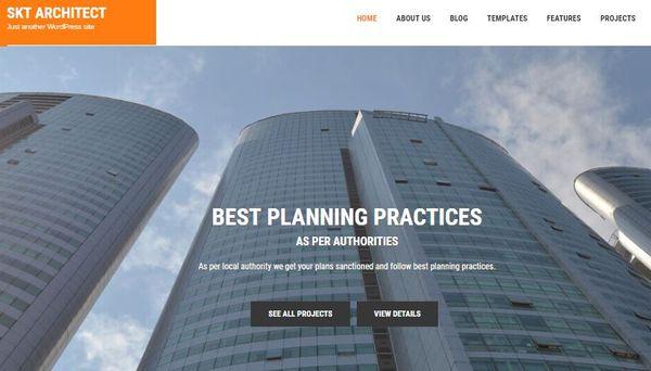 SKT Architect Pro – Multiple Google Fonts Integrated WordPress Theme