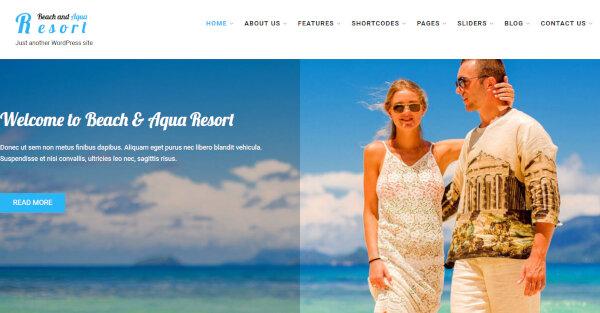 SKT Beach Pro – Shortcode WordPress Theme