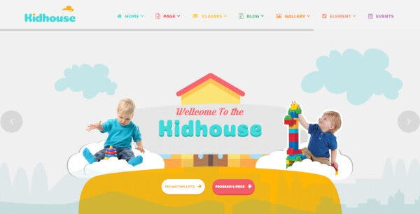 KidHouse – RTL Compatible WordPress Theme
