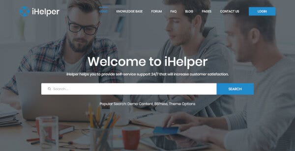 iHelper – Forum and Blog Page WordPress Theme