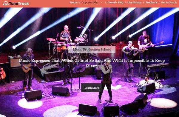 TuneTrack – Testimonial Section WordPress Theme
