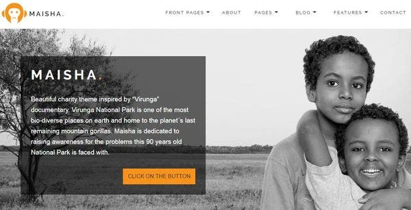 Maisha – Multiple Page Templates WordPress Theme