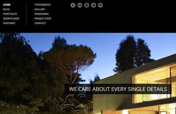 Architecture – jQuery Filter Integrated WordPress Theme