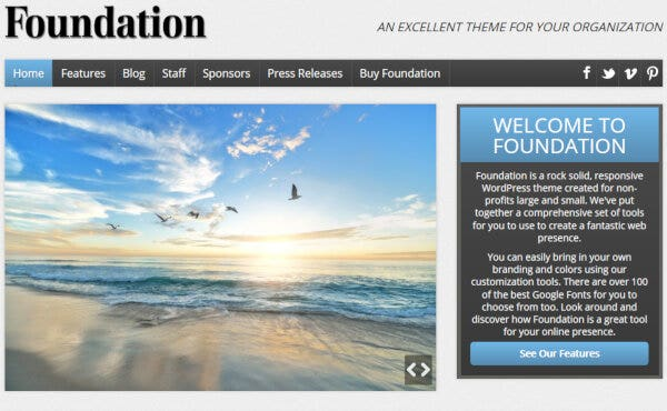18 foundation an excellent theme for your organization