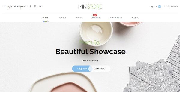 Ministore – Theme Customizer WordPress Theme
