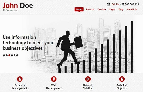 IT Consultant Pro – HTML5 & CSS3 Coded WordPress Theme