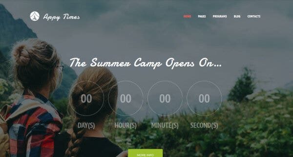 19 demo preview for appytimes summer camp wordpress theme 63919