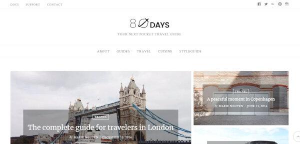 EightyDays – Fast Loading WordPress Theme