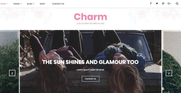 Charm – Multiple Shortcode WordPress Theme