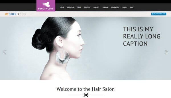 Beauty Cuts - Cross Browser Compatible WordPress Theme