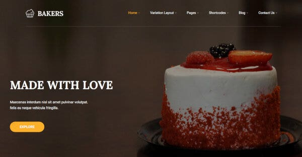 Bakers - ShortCode Ready WordPress Theme