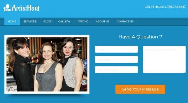 ArtistHunt – Contact Ready WordPress Theme