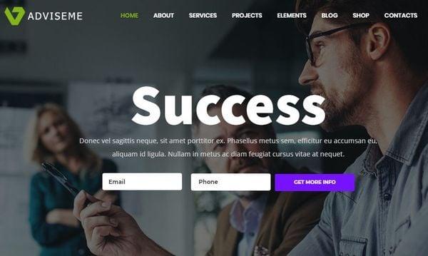 Adviseme – Video Supported WordPress Theme