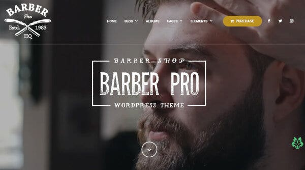 Barber Pro-Cache Plugins Compatible WordPress Theme