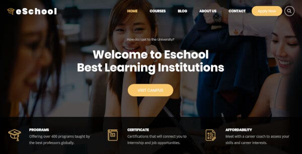 Eschool – Live Counter WordPress Theme