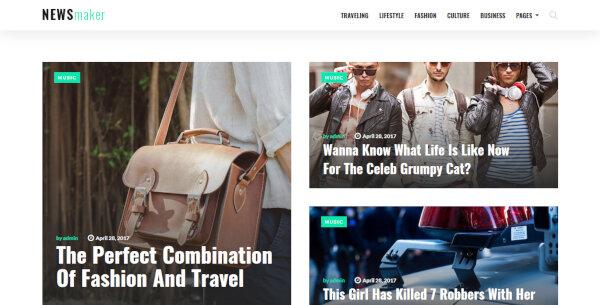 NewsMaker – Performance Optimization WordPress Theme