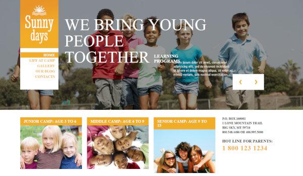 Summer Camp – Portfolio WordPress Theme