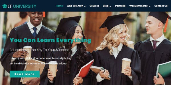 LT University – Mobile WordPress Theme