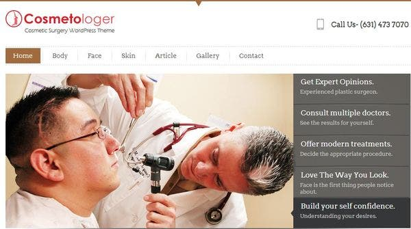 customizing the widgets available for your use. Cosmetologer – Slider Description WP Theme