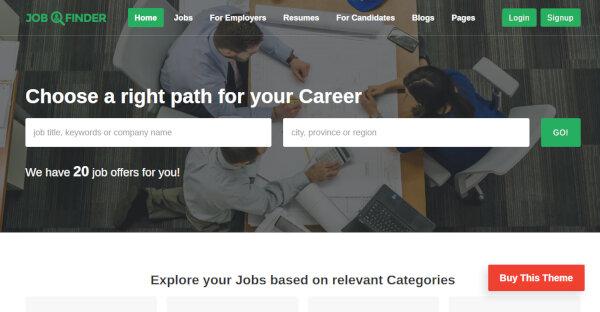 Job Finder – Elementor Page Builder Plugin WordPress Theme