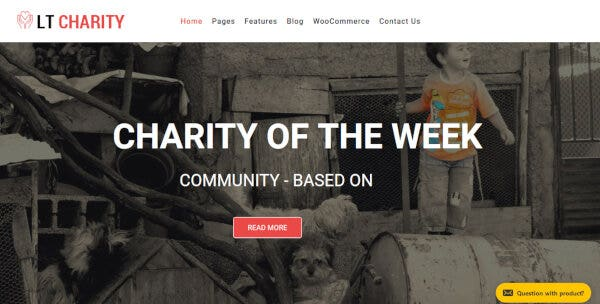21 lt charity nonprofit wordpress theme preview full page